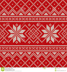 christmas sweater design seamless knitting pattern stock vector