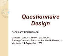 questionnaire design design kongmany chaleunvong