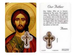 prayer card our prayer card laminated w medal cross catholic