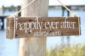 after wedding happily after starts here reclaimed wood wedding sign