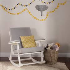 Grey And Yellow Chair Nursery Gliders U0026 Upholstered Rocking Chairs Rosenberry Rooms