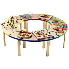 Play Table For Kids Circle Of Fun Activity Table Is A Center Of Fun For Adventure
