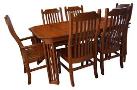 table u0026 chairs craftsman mission table and chairs frontier