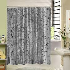Unique Shower Curtains Birch Tree Shower Curtain Forest Trees For Bathroom Decor