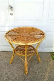 round rattan side table rattan side table image of round rattan coffee table side rattan