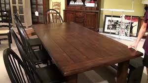 furniture attic heirlooms rustic oak extension leg dining table