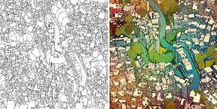 highly detailed coloring book for adults features world
