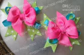 handmade hair bows baby hair bow handmade ribbon boutique hairbows hairclip 3