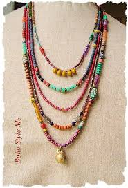 colored bead necklace images Boho colorful beaded necklace handmade bohemian jewelry tribal jpg