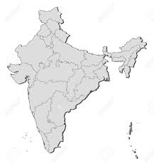 India Blank Map by Political Map Of India With The Several States Royalty Free
