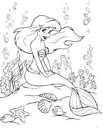 free ariel coloring pages printable asoboo