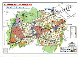 Blank India Map Pdf by Gurgaon Sohna City Map And Master Plan 2031