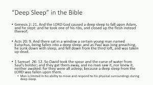 sleep paralysis in the bible