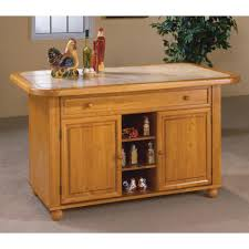 kitchen carts and islands thielsen kitchen cart with wood top