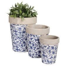 esschert design aged ceramic balcony planter hayneedle