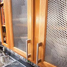 Metal Kitchen Cabinet Doors Ideas For The Kitchen Cabinet Door Inserts Family Handyman