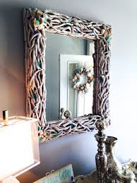 sea glass cottage driftwood mirror makeover wednesday july 1 2015