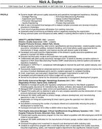 Quality Assurance Manager Resume Sample by Scannable Resume Sample Quality Assurance