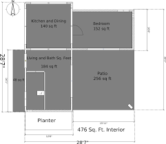 Micro House Floor Plans Peter U0027s Tiny House U2013 Modern Tiny House