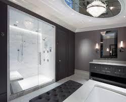 beveled arabesque tile bathroom contemporary with lacava open