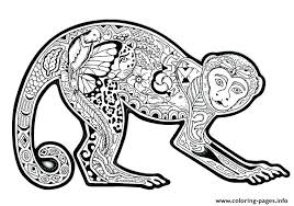 cute printable coloring pages adults difficult animals cute monkey