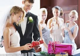 wedding gift amount per person half of wedding guests give newlyweds belongings from their own