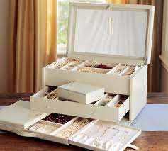 Pottery Barn Travel Jewelry Case Mckenna Leather Jewelry Armoire Pottery Barn