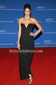 kendall jenner black strapless evening dress 102nd white house