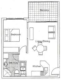 Granny Flat Floor Plans 1 Bedroom 1 Bedroom Floor Plans For Apartment Design Ideas 2017 2018