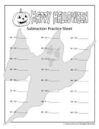 new halloween addition and subtraction worksheets classroom jr