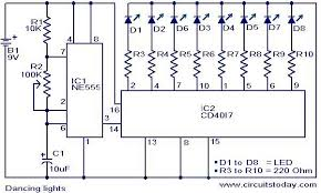 dancing light electronic circuits and diagram electronics