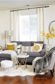 White Curtains With Yellow Flowers Furniture Fascinating Grey Couches For Your Living Room Sofa