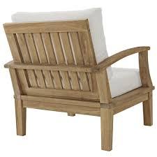 Teak Patio Outdoor Furniture by Eei 1143 Nat Whi Set