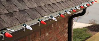 how to hang christmas lights safely