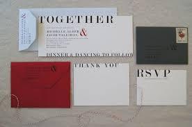 Red And Black Wedding Invitations Black White And Red Wedding Invitation Paperfish Designs
