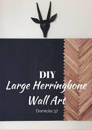 create a large wall art using the herringbone pattern how to