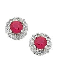 diamond stud earrings melbourne ruby earrings white gold ruby diamond stud earrings 763907