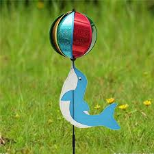 dolphin plays windmill animal wind spinner whirligig