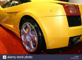 yellow lamborghini gallardo lamborghini gallardo in yellow rear end stock photo royalty free