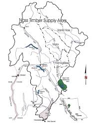 Map Of Bc Nass Timber Supply Area Province Of British Columbia