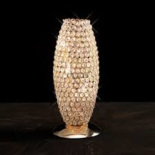 il30766 kos 3 light french gold crystal table lamp