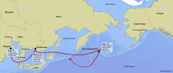 map of aleutian islands naval ships near aleutians highlight history of