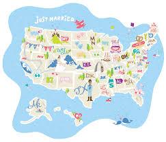 The 50 States Map by The Knot 5ab18505587a333e7c90c273bfe0d5d74144debb8034159c4a333eea986f09e0 Jpg