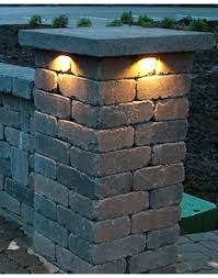 retaining wall lights under cap more refined than this retaining wall lighting under cap 625 for