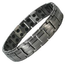 bracelet magnetic images Mps europe gunmetal finish titanium magnetic therapy bracelet jpg