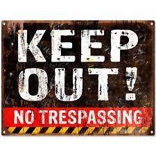 metal keep out signs ebay
