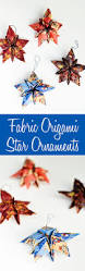 fabric origami christmas star ornaments origami ornament and