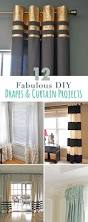 Home Office Curtains Ideas The Happiest No Sew Diy Curtains For My Office Office Curtains