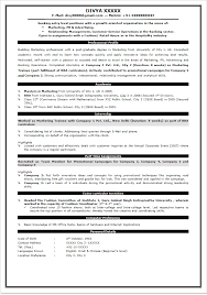 Sample Resume For Download by Sample Resume For Freshers Of Mba Templates