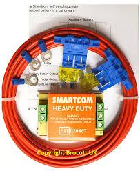 smartcom voltage sensing split charge relay kit 12volt 30amp